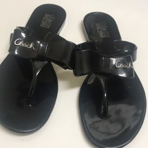 Coach plastic sandals